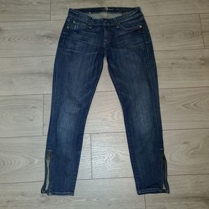 Seven for all mankind cropped skinny